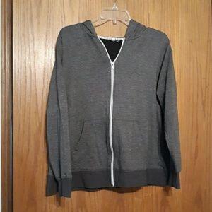 Joe Boxer 1X hooded zippered sweatshirt